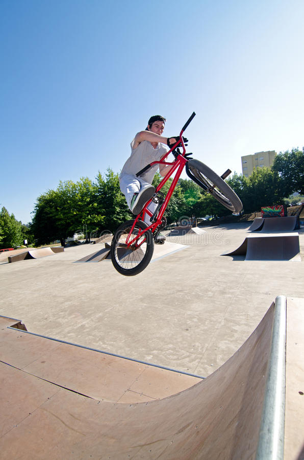 Download BMX Bike Stunt bar spin stock image. Image of wooden - 20531981