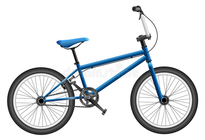 BMX bike. On white, very elaborated royalty free illustration