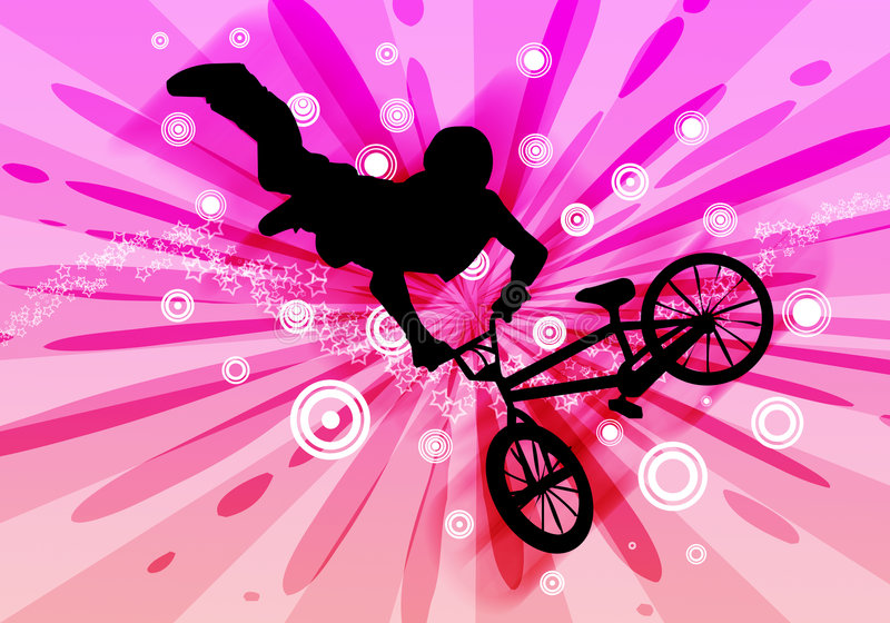 Bmx biker. Vector image of bmx biker stock illustration