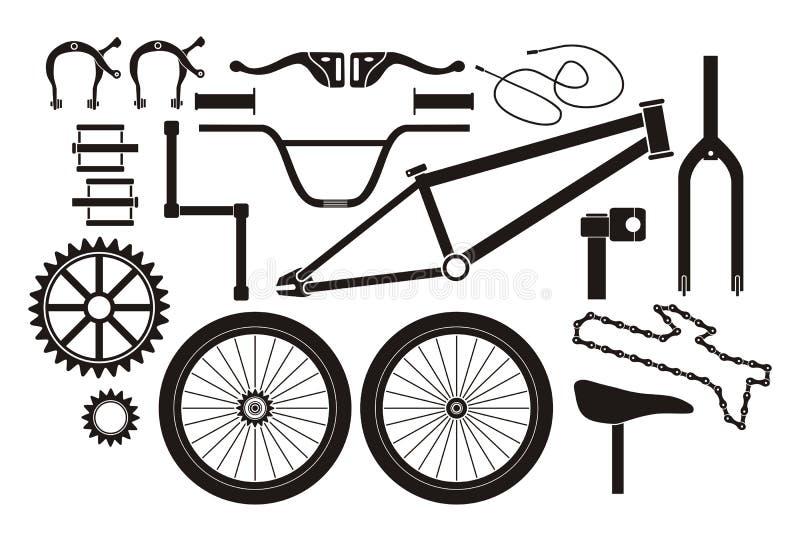 BMX części - piktogram ilustracji