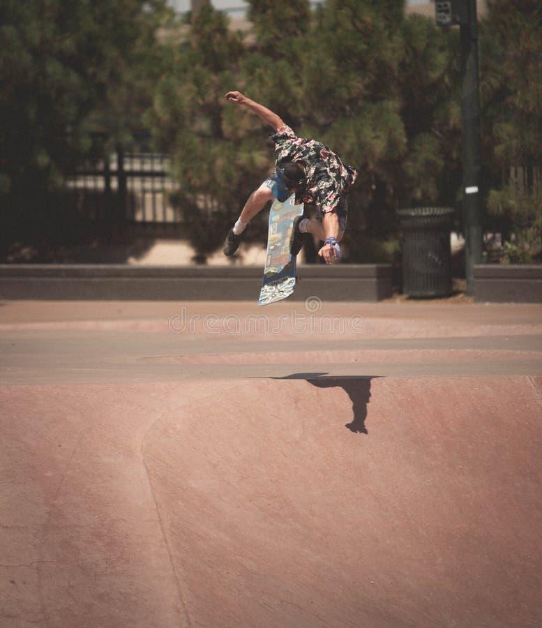 Bmx et planchiste de Denver Skate Park photo libre de droits