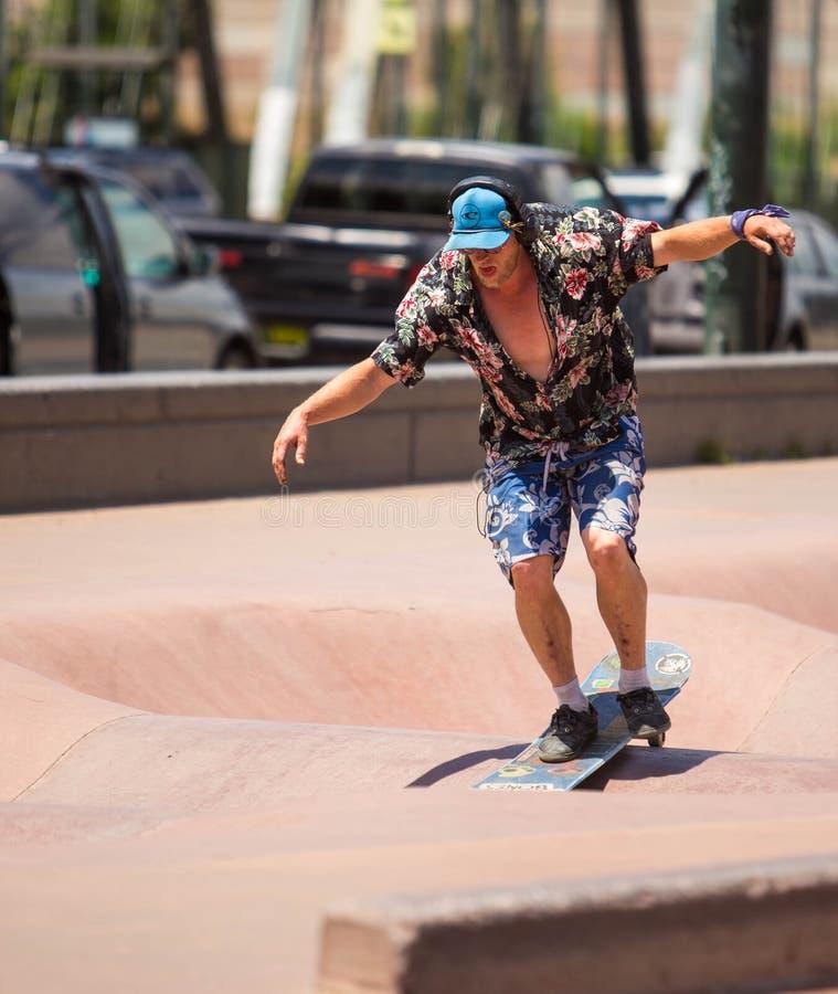 Bmx et planchiste de Denver Skate Park image stock
