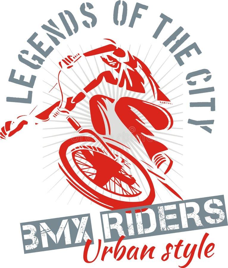 BMX-fiets - vectorillustratie royalty-vrije illustratie