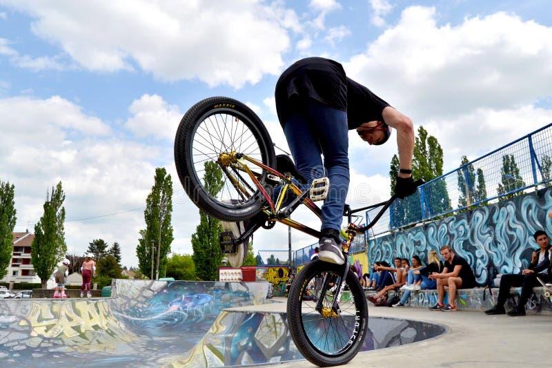BMX Footjam royaltyfri bild