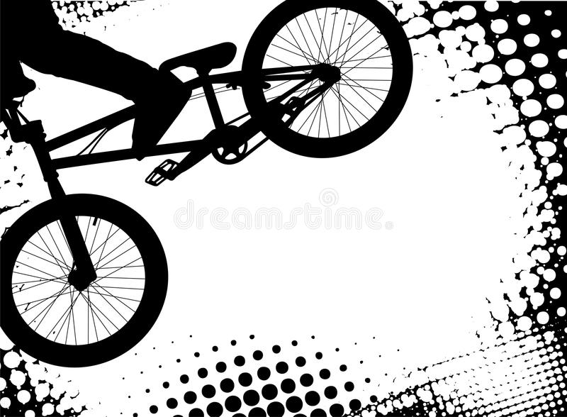 Bmx halftone background with copy space. Vector vector illustration
