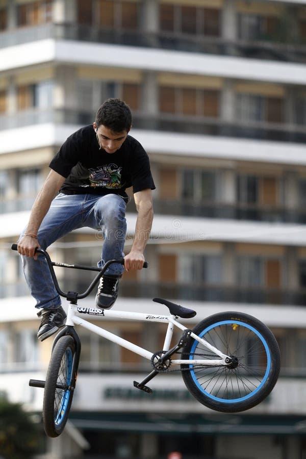 BMX jeźdzowie obraz royalty free