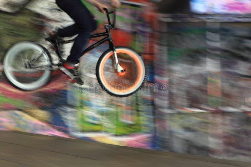BMX Mitfahrer stockbilder