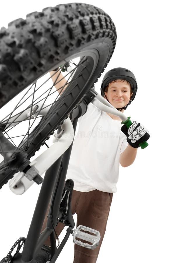BMX Mitfahrer stockfotos