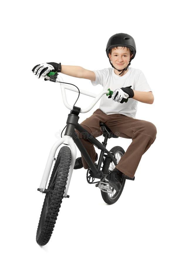 BMX Mitfahrer stockfotografie
