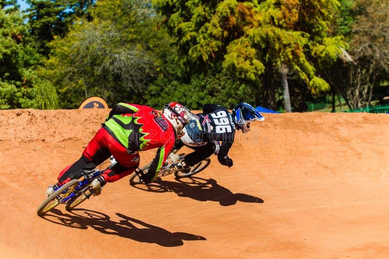 BMX Racing Riders Last Corner