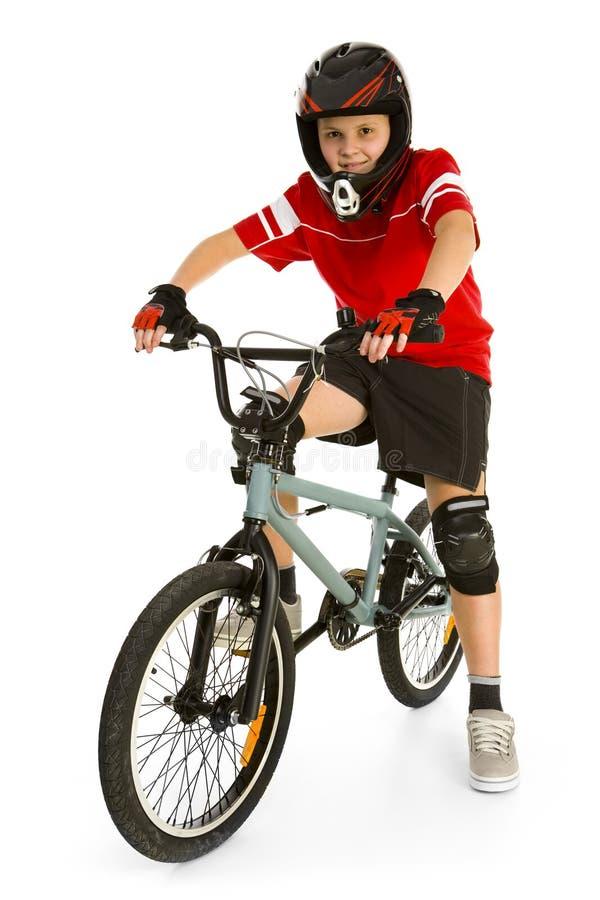 BMX Radfahrer stockfotografie