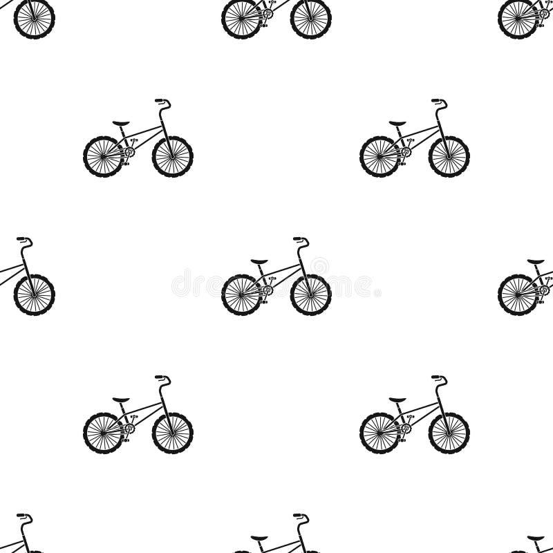 BMX-Radfahrer-Radfahrer-Athleten-Sportler Fahrrad für Sprünge und Athleten Einzelne Ikone des unterschiedlichen Fahrrades in der  vektor abbildung