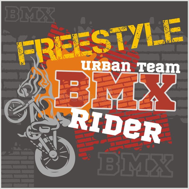 BMX-ruiter - stedelijk team Vector ontwerp royalty-vrije illustratie