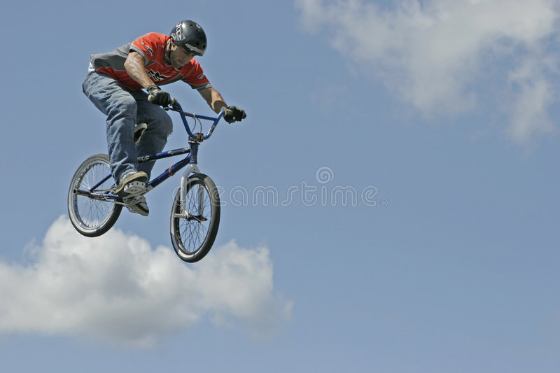 BMX Stunt Biker Hector Restrepo. Stunt biker Hector Restrepo performs in a show sponsored by Eastern Action Sports Teams in Milford, Connecticut, USA, on August stock images