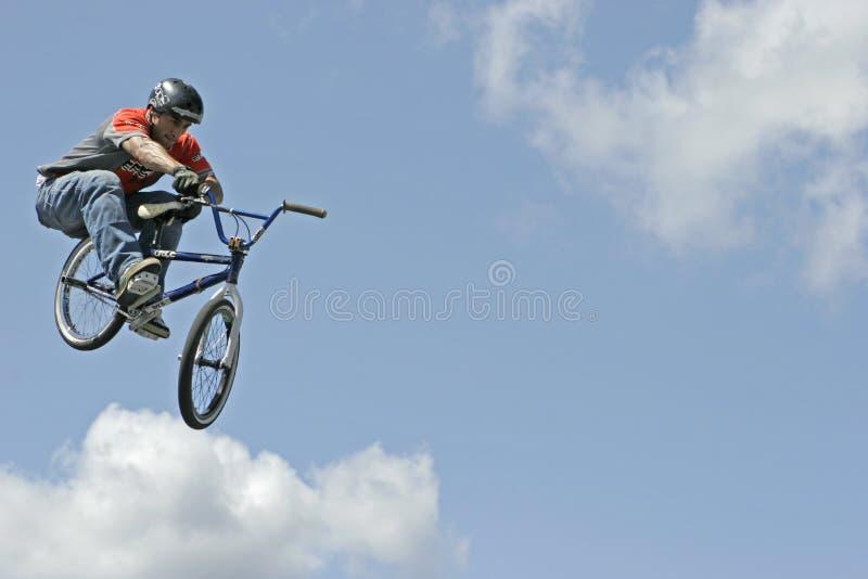 BMX Stunt Biker Hector Restrepo royalty free stock images