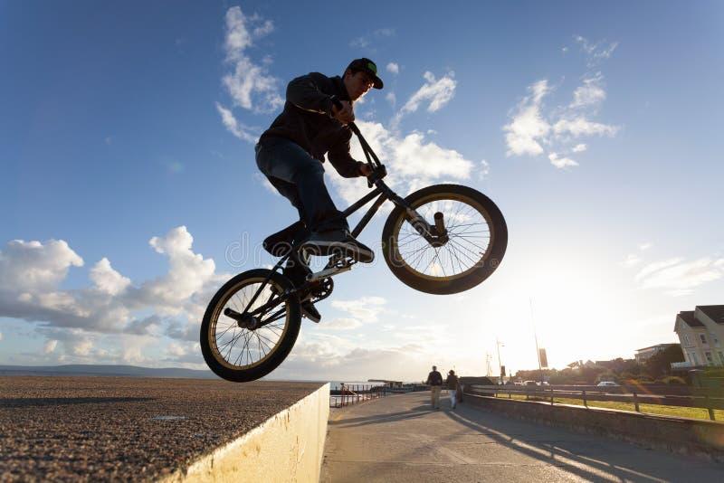 BMX Stunts At The Street Royalty Free Stock Photography ...