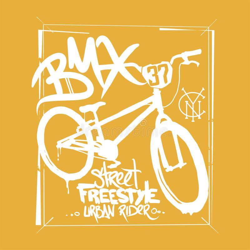 BMX t-shirt Graphics. Extreme bike street style. BMX t-shirt Graphics. Extreme bike street style vector illustration