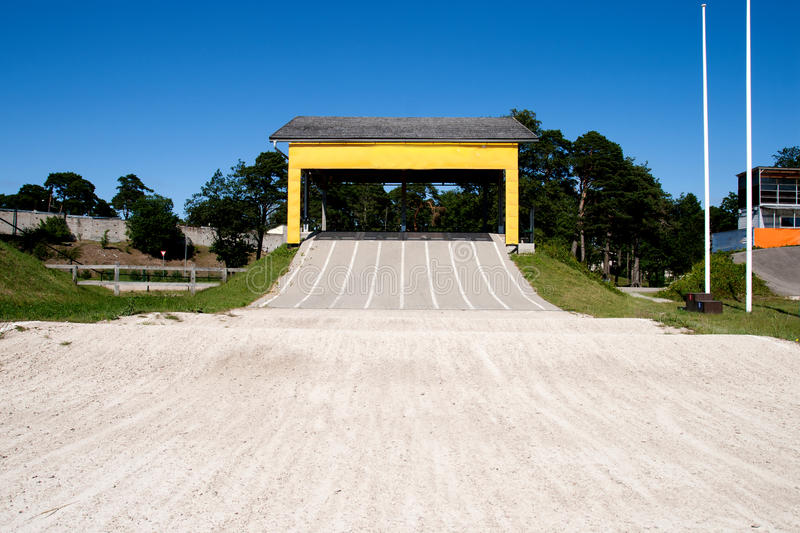 BMX track royalty free stock images