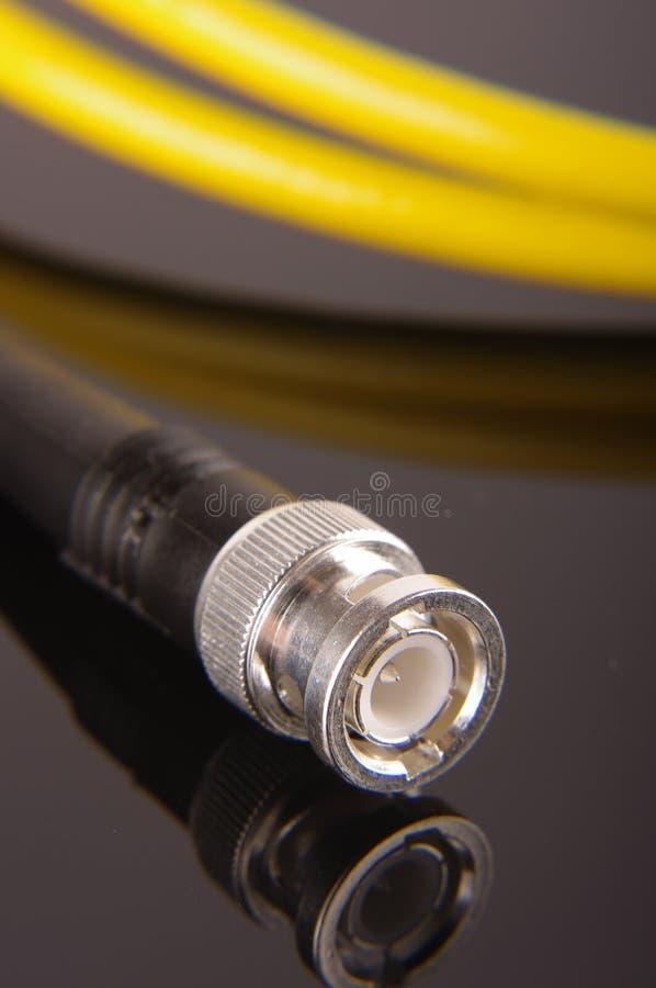 BNC włącznik RF kabel zdjęcia royalty free