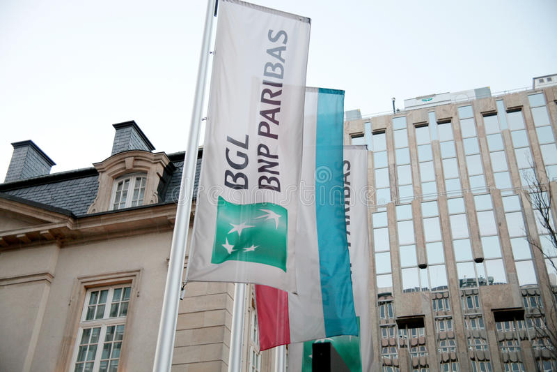 BNP Paribas-bank stock afbeelding
