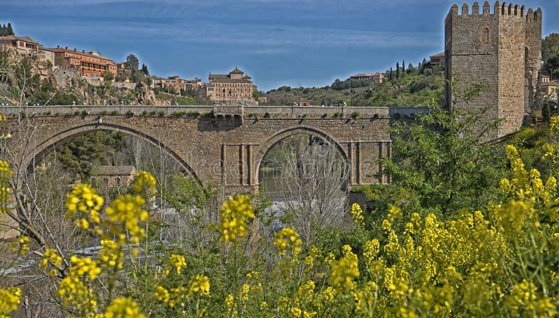 Bnridge del ` s de San Martín, Toledo, España fotos de archivo