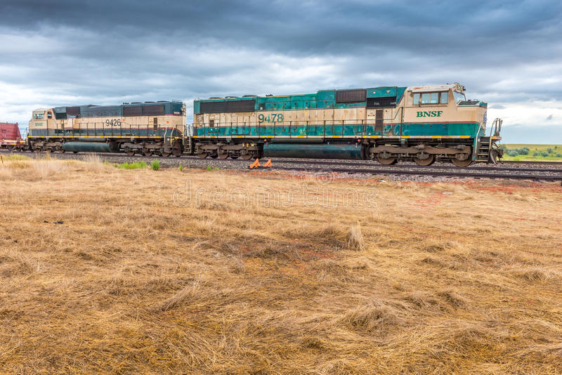 BNSF Diesel Locomotive 9478 royalty free stock photography