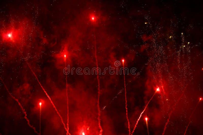 Bożenarodzeniowi fajerwerki w Madryt zdjęcia royalty free