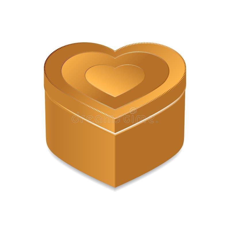 Boîte à bijoux d'or photo stock