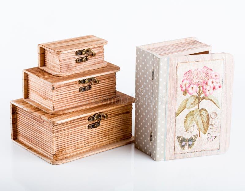 Boîte à bijoux faite main photo libre de droits