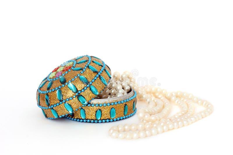 Boîte à bijoux Perles Perles de perle beauté photographie stock