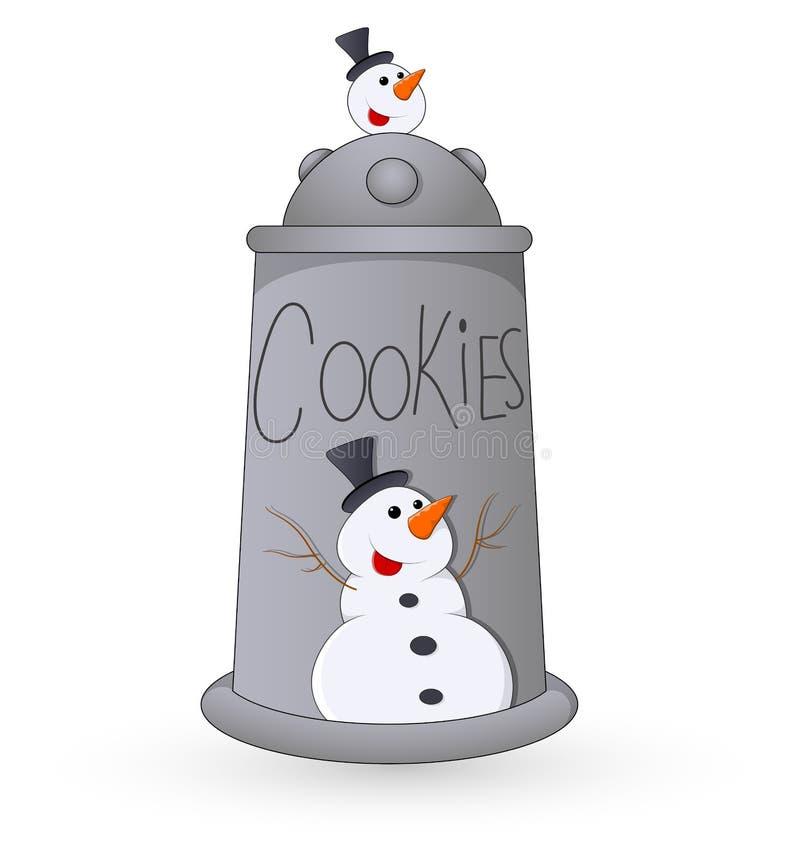 Boîte à biscuits - illustration de vecteur de Noël illustration libre de droits