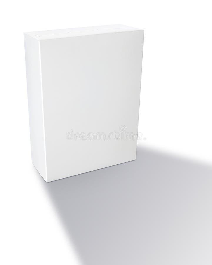 Boîte à céréale générique blanc photographie stock