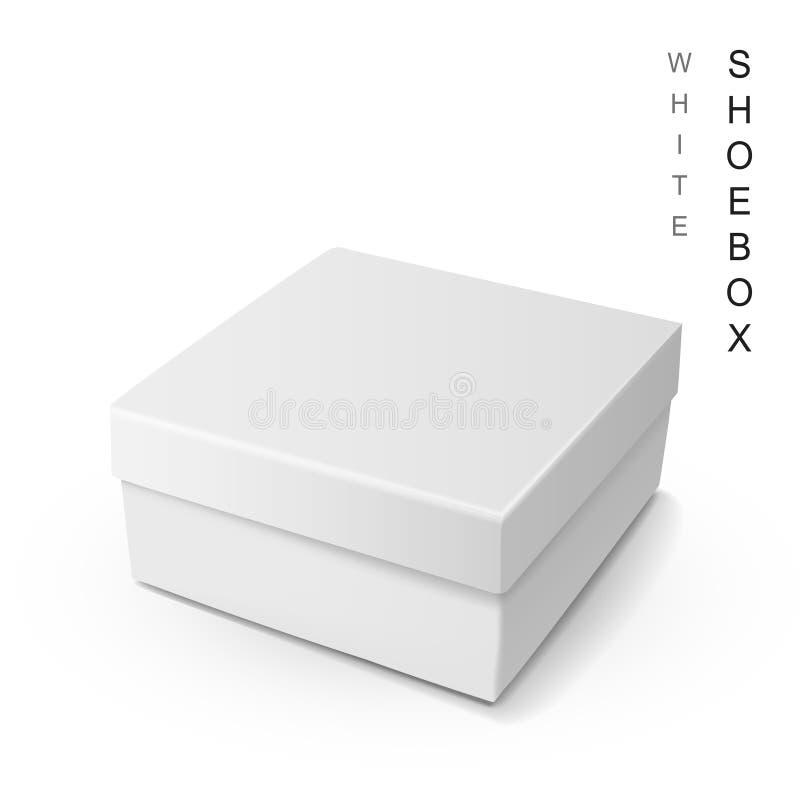 Boîte à chaussures blanche illustration libre de droits