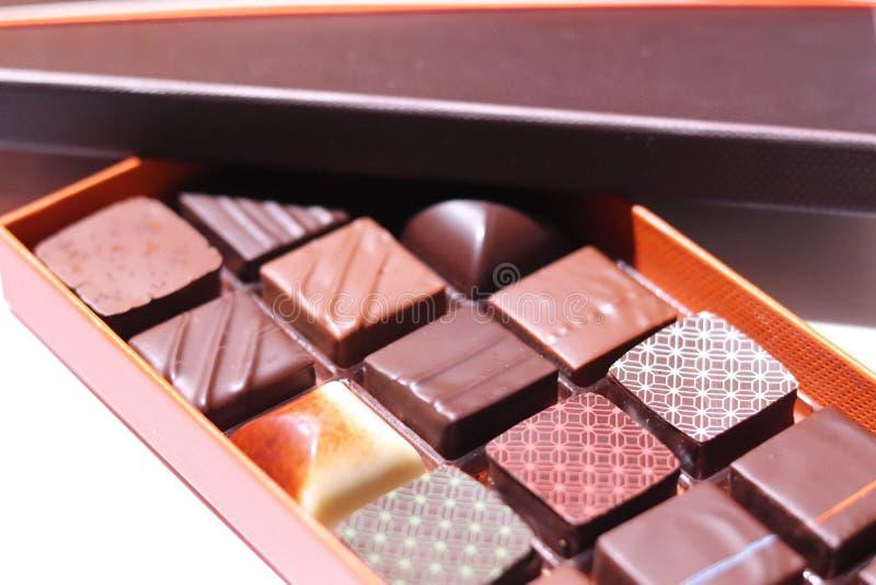 Boîte à chocolat photographie stock