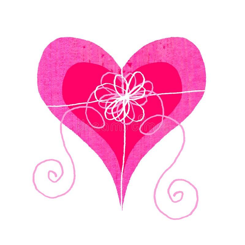 Boîte à chocolat d'amoureux illustration libre de droits