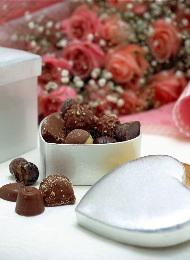 Boîte à chocolats images stock
