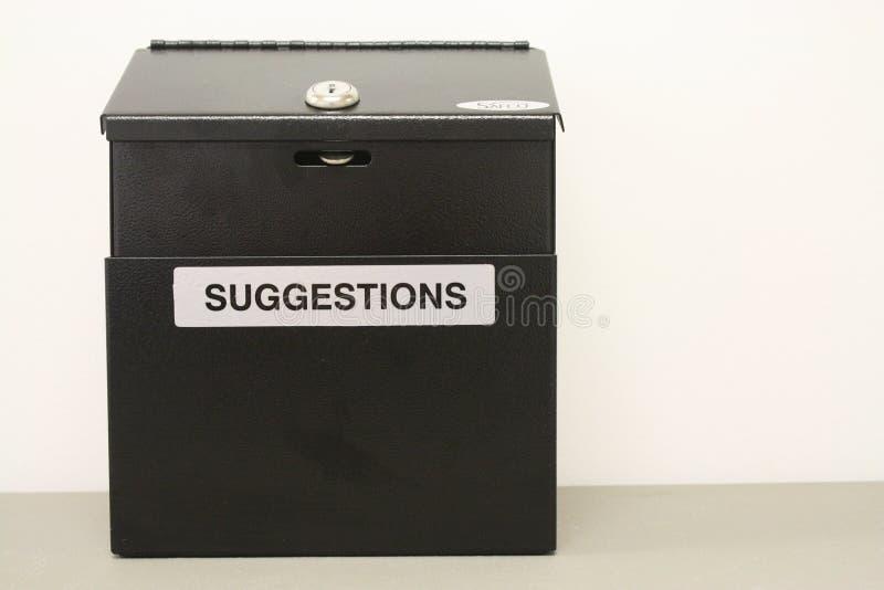 Boîte à idées noire images libres de droits