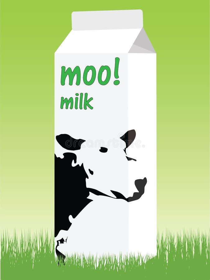 Boîte à lait illustration stock