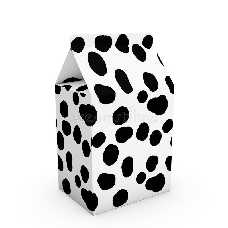 Boîte à lait de texture de vache illustration de vecteur
