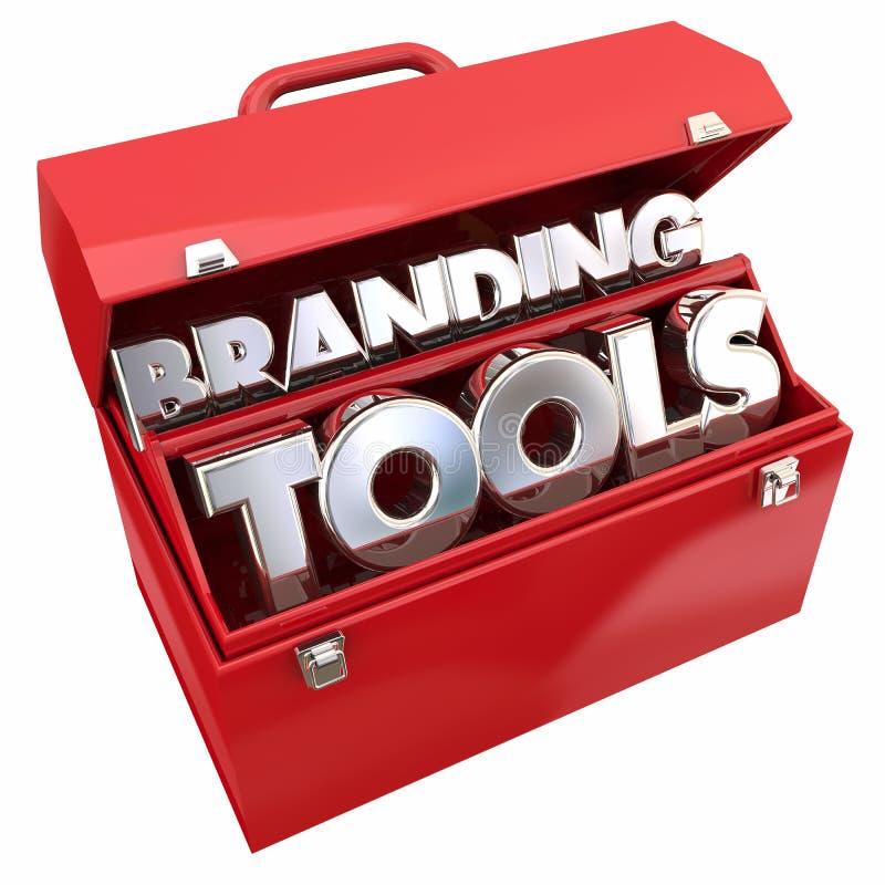 Boîte à outils de marquage à chaud de conscience d'affaires de Tools Marketing Company illustration de vecteur