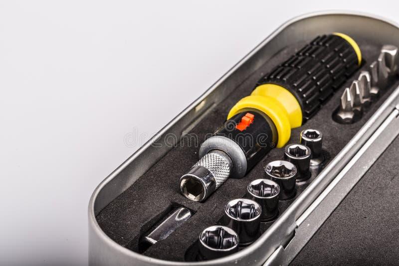 Boîte à outils, ensemble d'outils pour la réparation image libre de droits
