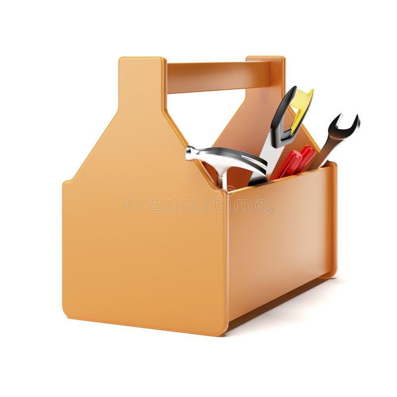 Boîte à outils orange illustration stock
