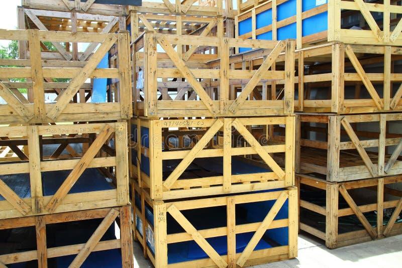 Boîte à palette en bois photographie stock