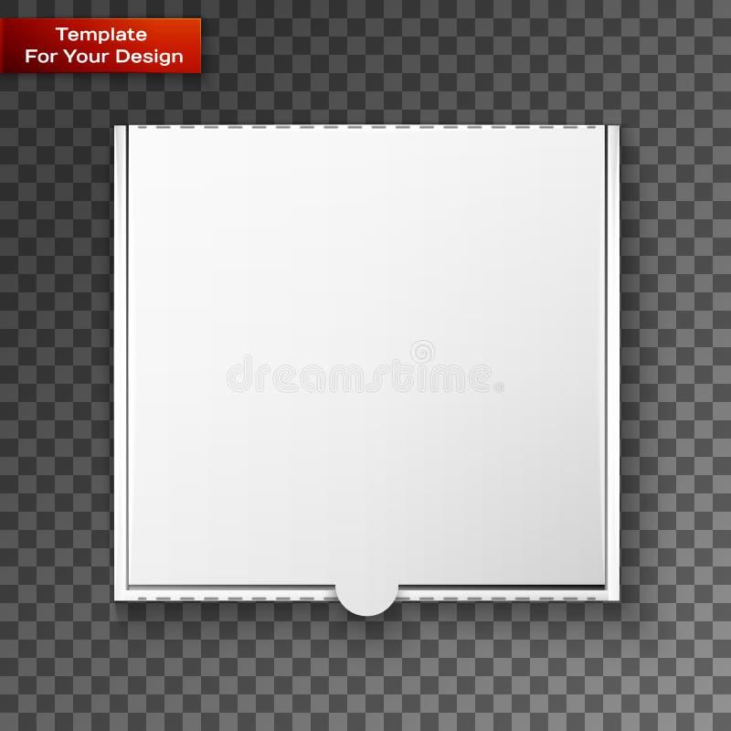 Boîte à pizza de carton pour votre conception illustration stock