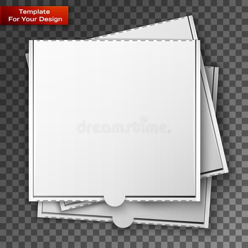 Boîte à pizza de carton pour votre conception illustration de vecteur