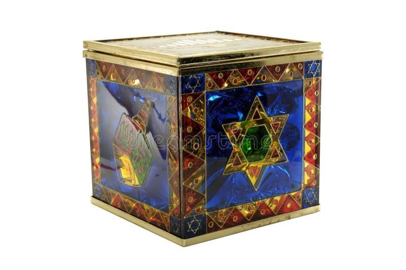 Boîte à sucrerie de Chanukah images libres de droits