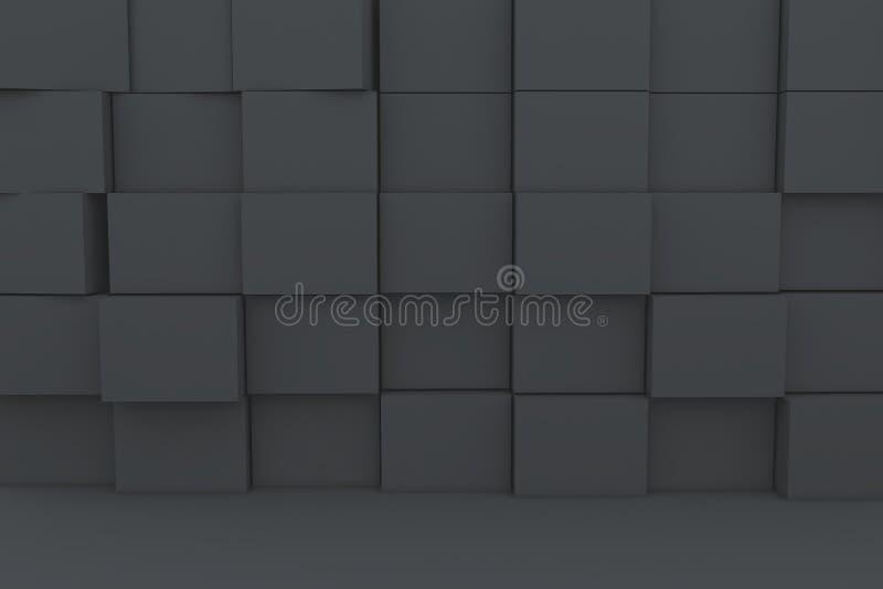 boîte 3D noire blanc illustration de vecteur