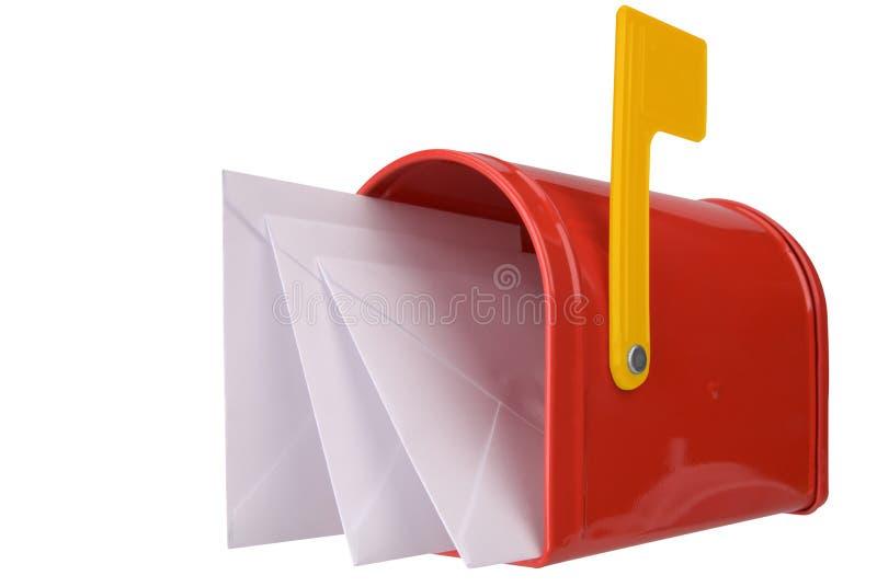 Boîte aux lettres avec l'indicateur photo stock