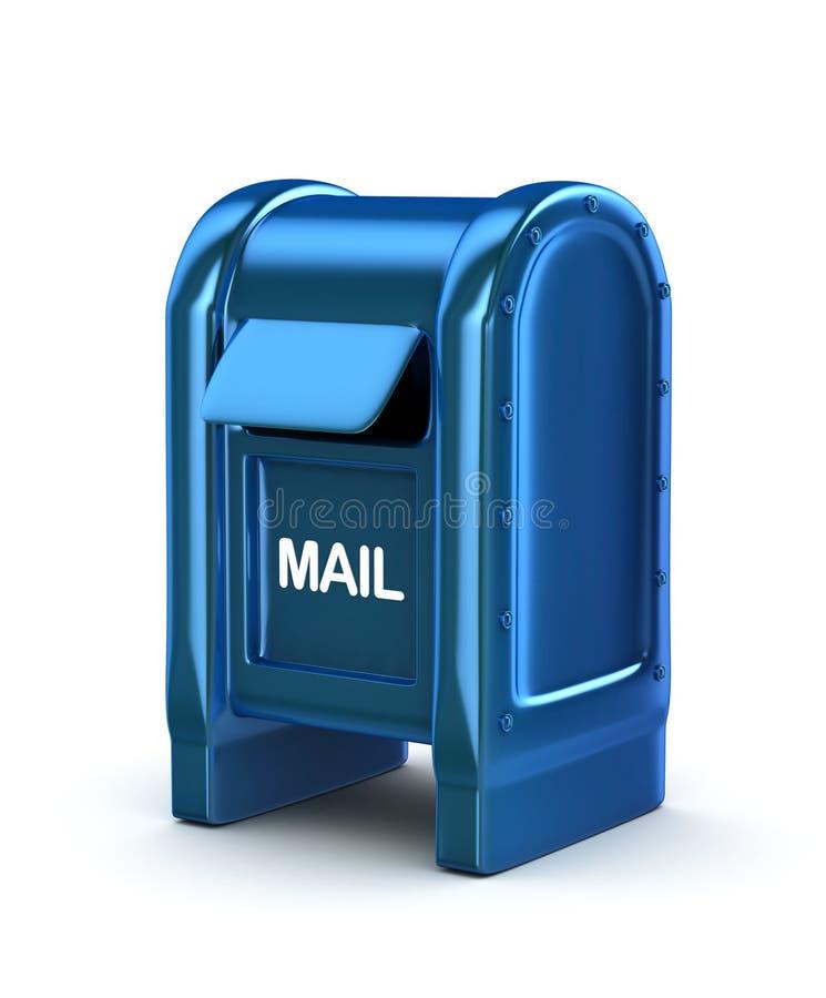 Boîte aux lettres bleue illustration libre de droits