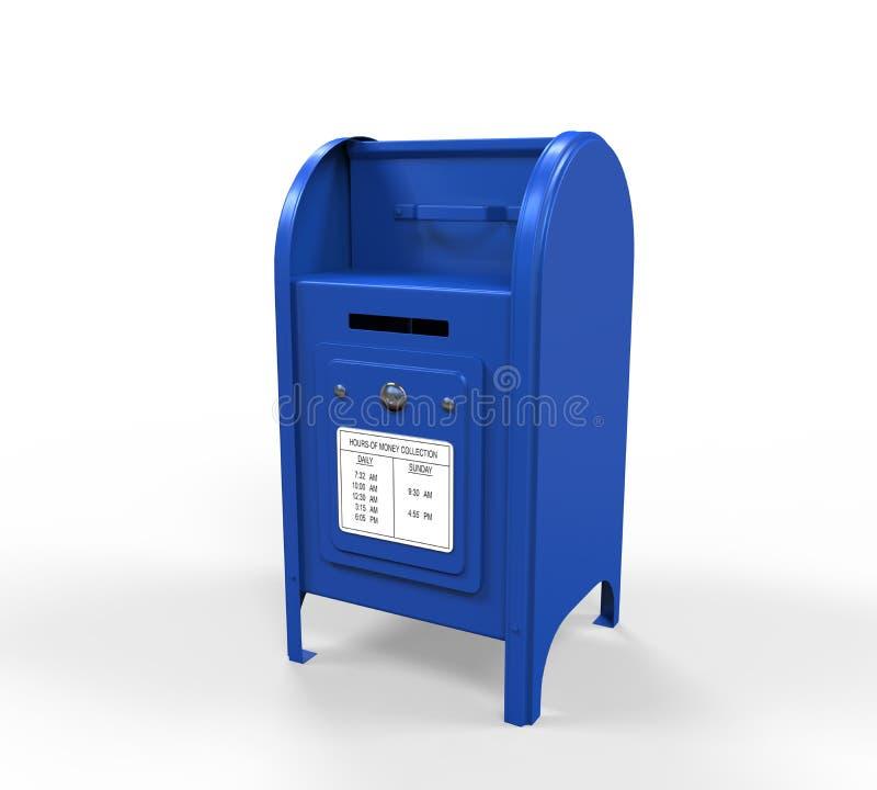 Boîte aux lettres bleue illustration de vecteur